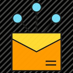 advertising, distribution, email, envelope, marketing icon