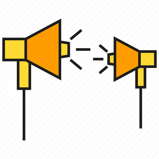 advertising, announce, megaphone, speaker icon
