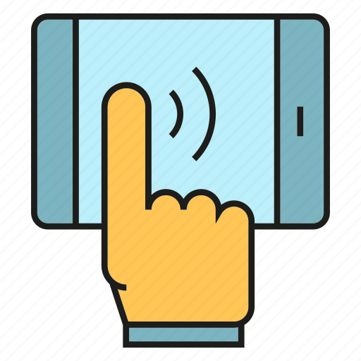 finger, mobile, phone, touch icon