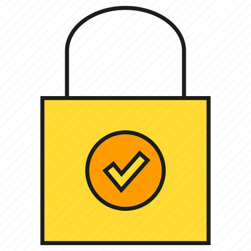 check, promotion, secure, shopping, shopping bag icon