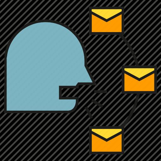 advertising, email, envelope, letter, marketing, viral marketing icon