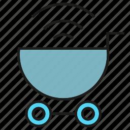 buy, market, shopping cart, wifi icon