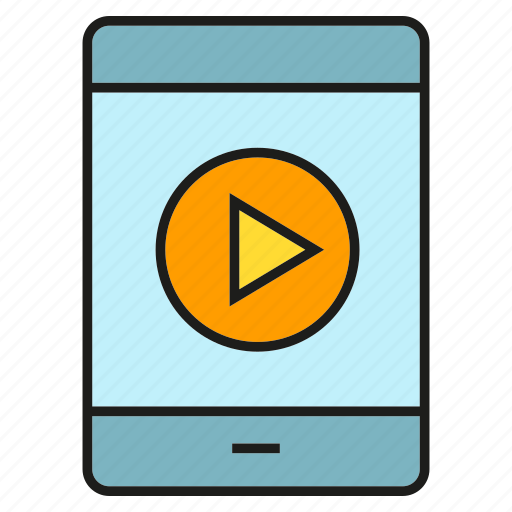 media, mobile, phone, play, video icon
