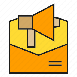 advertising, email, envelope, letter, marketing, megaphone, send icon
