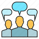 chat, community, consulting, group, people, talk icon