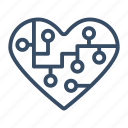 bookmark, favorite, heart, intelligent, marketing, popular icon