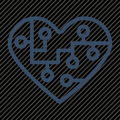 bookmark, favorite, heart, intelligent, marketing, popular icon