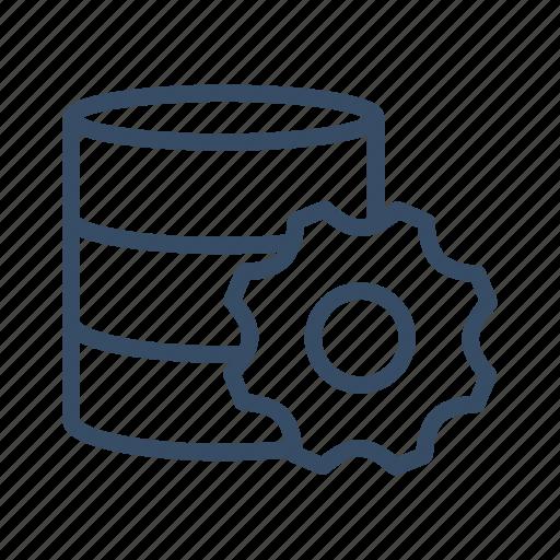 configuration, database, gear, preferences, server, setting, storage icon