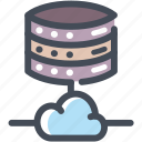 cloud, data base, hosting, server, share, sharing, storage icon
