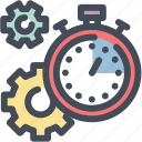 efficiency, gear, productivity, settings, stopwatch, time management, timer icon