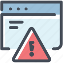alert, browser, development, error, message, warning, web site icon