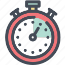 deadline, effective, productivity, schedule, stopwatch, time management, timer icon