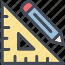 creative, custom, design, layout, pencil, ruler, ui ux icon