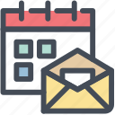 calendar, email, envelope, mail, news feed, schedule, subscibe icon