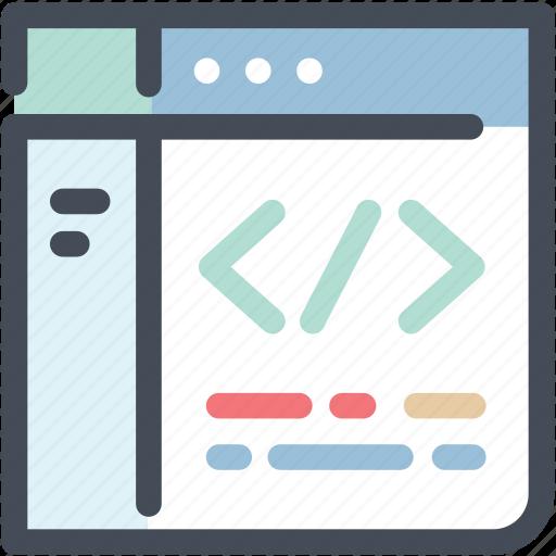 app, application, browser, code, coding, custom development, programming icon