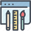 browser, designing, layout, pencil, ruler, ux, web design