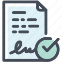 application, approved, contract icon