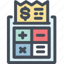 calculator, finamce, money, payment, price, receipt icon