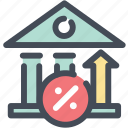 bank, interest, invest, profit, rate icon