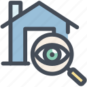 buy, house, property, search, view icon
