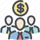 business, collaboration, fund, hierarchy, money, people, team icon