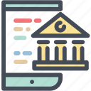 banking, mobile, oniine icon