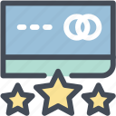 credit, credit card, rating, review icon