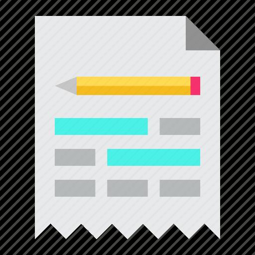 document, keywords, marketing, seo icon