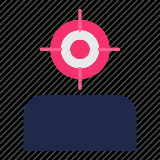 audience, focus, goal, marketing, target icon