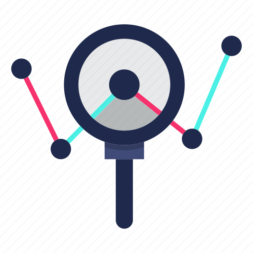 analysing, marketing, report, usability icon