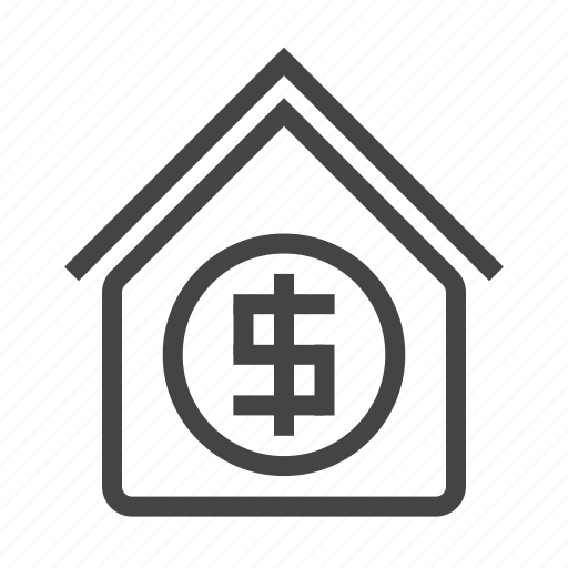 business, finance, home, house, marketing, money, sell icon