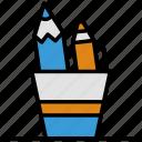 crayon, pen, pencil, set, write, writing set icon