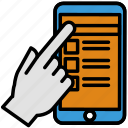 ux, pointing, phone, design, touch, display icon