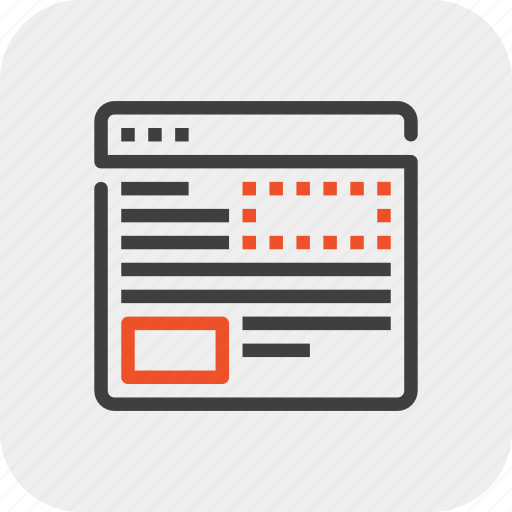 application, design, development, layout, page, template, web icon