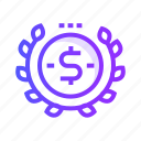 cash, currency, dollar, donation, money icon