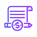 article, articles, blog, communication, newspaper, paid icon