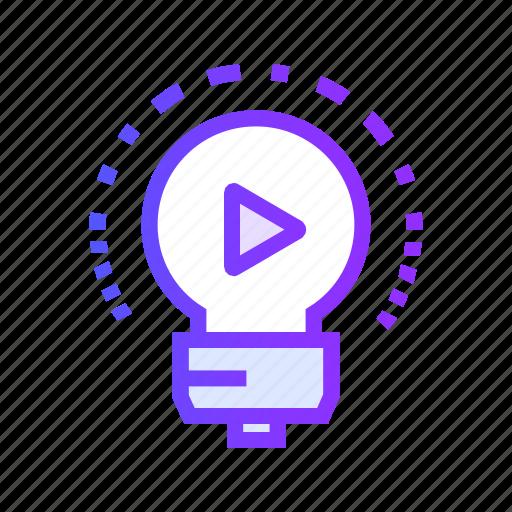 marketing, media, multimedia, seo, video icon