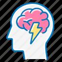 brain, lightning, brainwave, marketing, head
