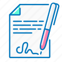 contract, marketing, pen, sheet, signature
