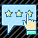 customer, hand, marketing, rating, stars, survey