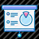 analytics, flipchart, marketing, training icon