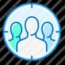 focus, group, marketing, people, team icon