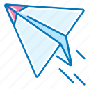 launch, marketing, paper, plane icon