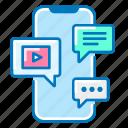 marketing, media, phone, social, video