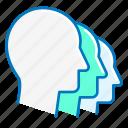 heads, marketing, people, team icon