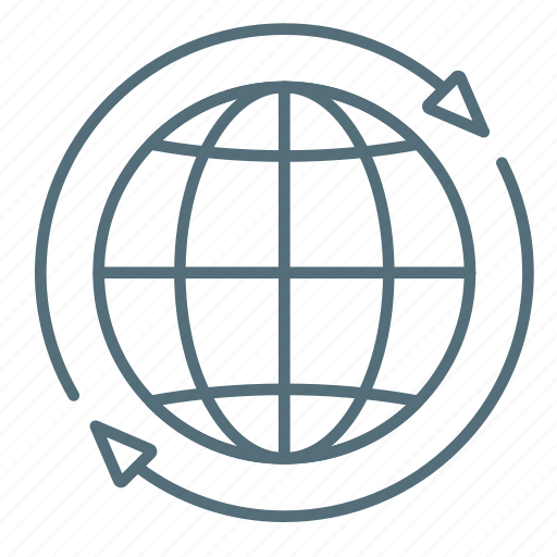 Arrows, global, globe, marketing icon - Download on Iconfinder
