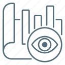 chart, eye, market, marketing, wath