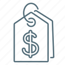 dollar, marketing, price, pricing, tag icon
