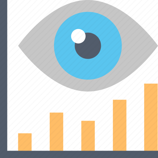 business, eye, forecast, future, graph, market, trends icon
