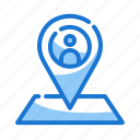 location, map, marketing icon, pin icon